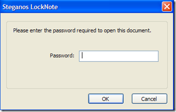 LockNote inserire password