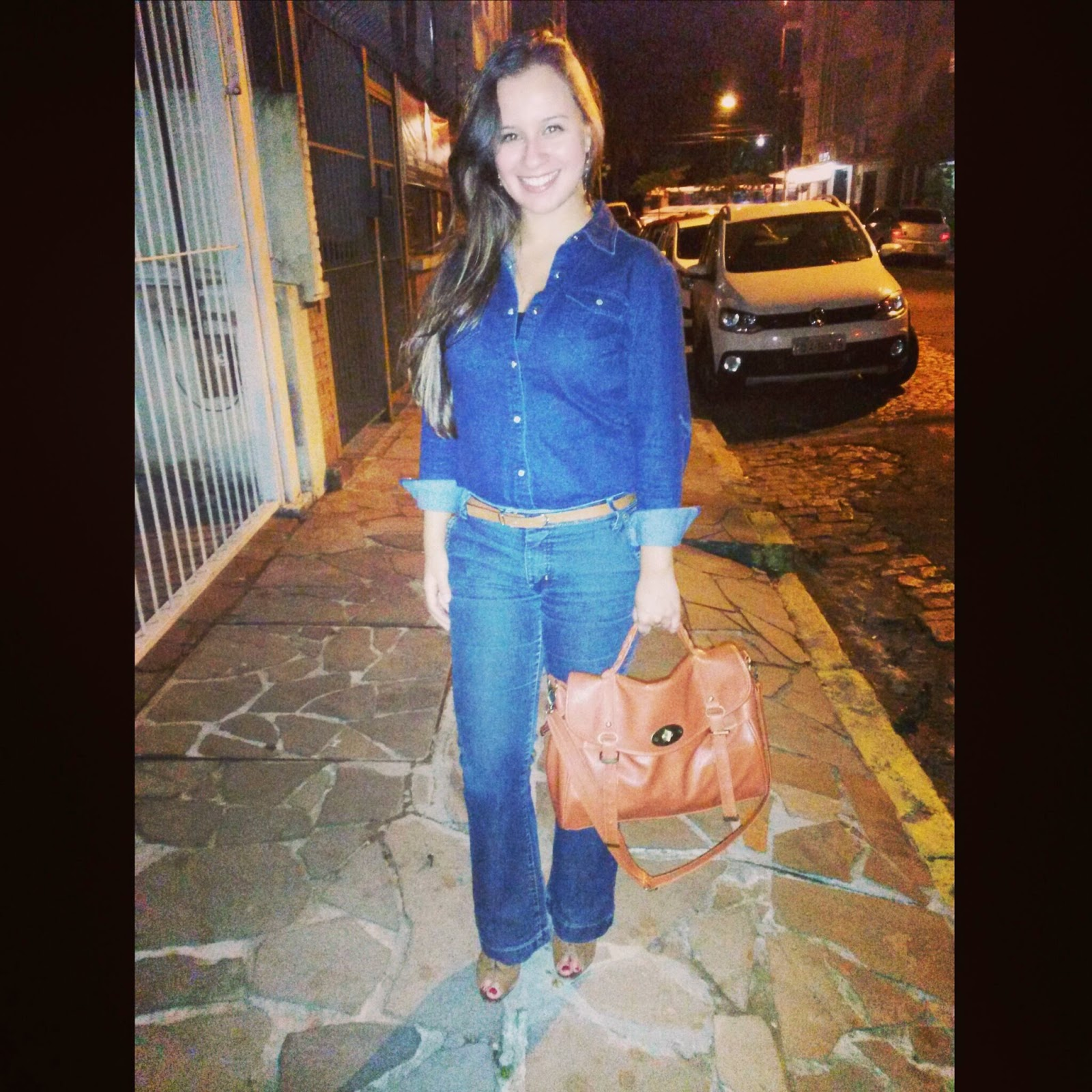 1f9c68b874 Casual Day  look all jeans! ~ A Economista de Batom