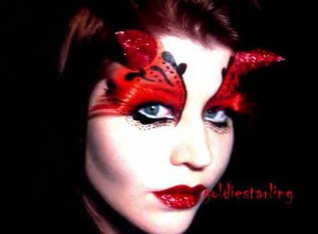 maquillaje de diablo para mujer