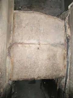 заслонка согласующего устройства предкамеры пирамиды   хеопса, вид со стороны смесителя