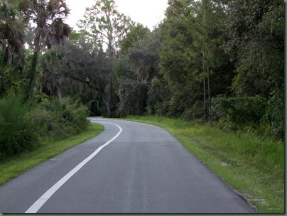Hillsborough River State main road - one way road