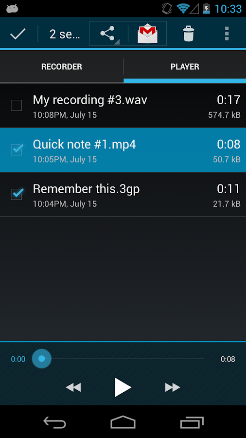 Easy Voice Recorder - screenshot