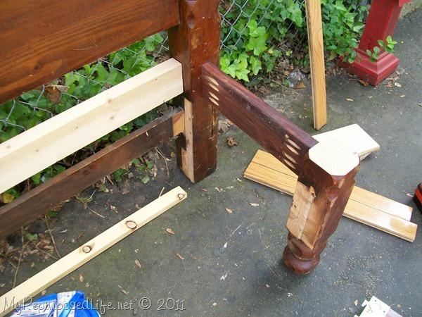 pocket hole joinery makes pretty headboard bench