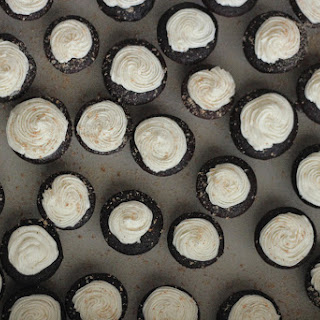 Cider Gingerbread Cupcakes + Bourbon Cream Cheese Frosting