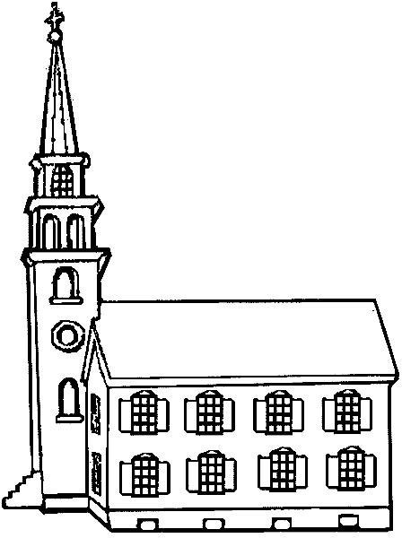 Iglesia Para Colorear Infantil