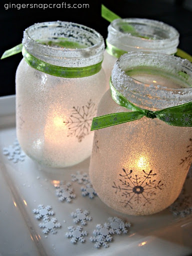 Mason Jar Lights | Breathtakingly Rustic Homemade Christmas Decorations