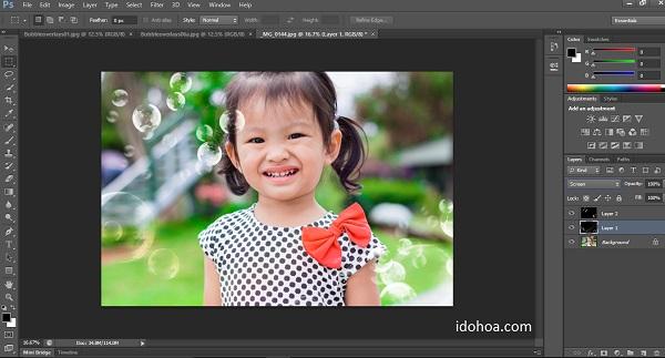 Hiệu ứng bong bóng cho Photoshop - Bubble overlays