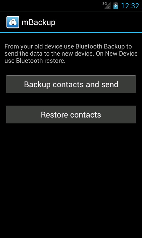 mBackup (beta) - screenshot
