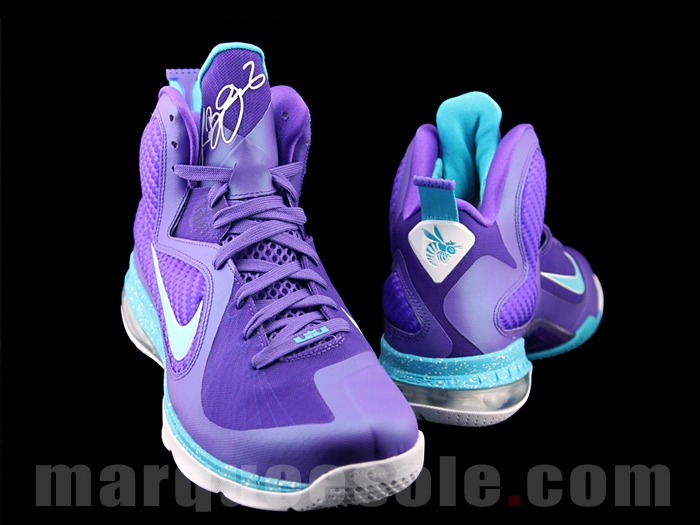 promo code d601c 81085 Second Look Nike LeBron 9 8220Summit Lake Hornets8221 ...