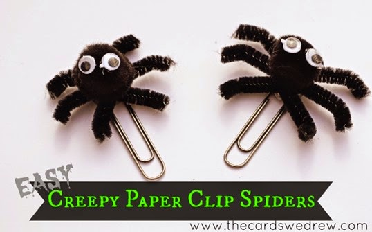 Easy-Creepy-Paper-Clip-Spiders