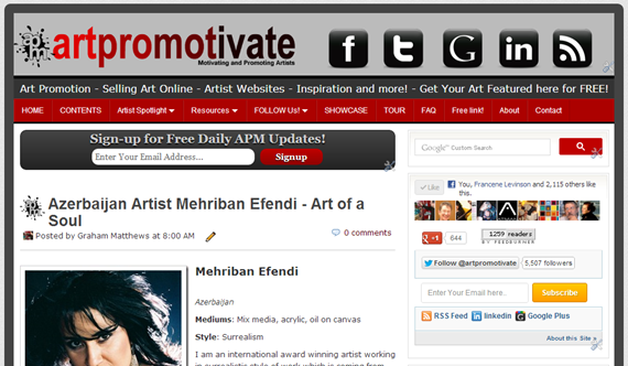 artpromotivate website