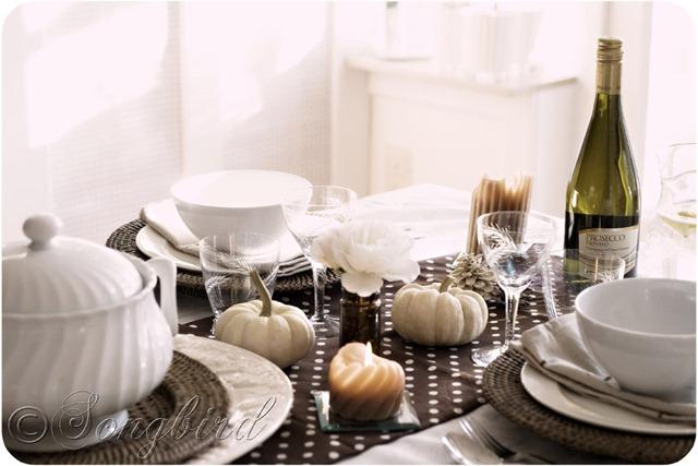 Fall Polkadot Table Setting 5