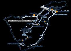 Mapa aeropuerto norte de Tenerife