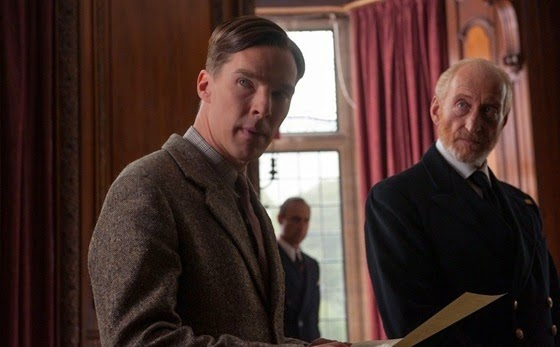 benedict Cumberbatch and Charles Dance in The Imitation Game