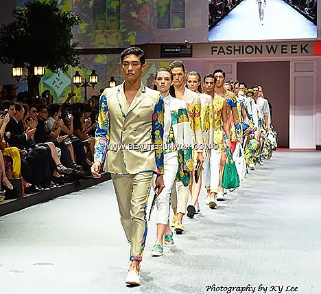 RAIN MCM Fashion Week 2013 Fide Marina Bay Sands Sung Hoon Spring Summer 2014 Fashion Show Flower Boys In Paradise MCM Bags backpack handbag totebag clutch wallets briefcase shoes jackets blazer