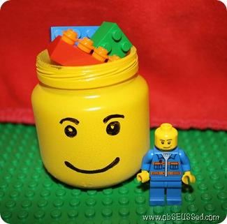 DIY Lego Storage Jar