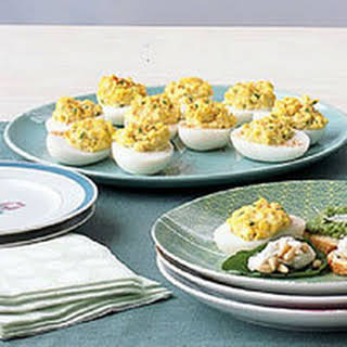 Hot Deviled Eggs.