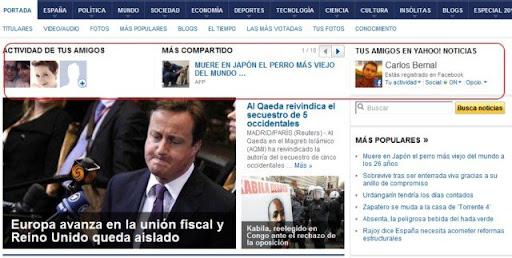Yahoo! Actividad
