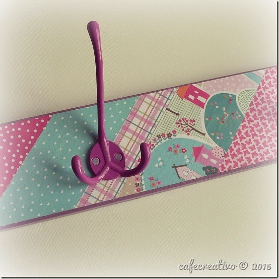 cafe creativo - craft asylum - appendiabiti decoupage - tutorial