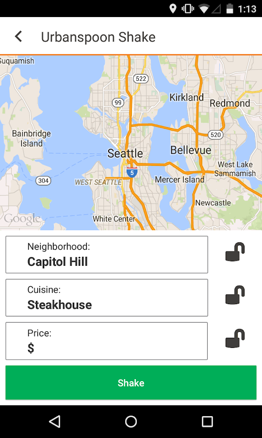 Urbanspoon Restaurant Reviews- screenshot