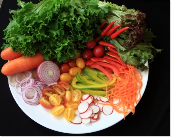 salads -raw foods