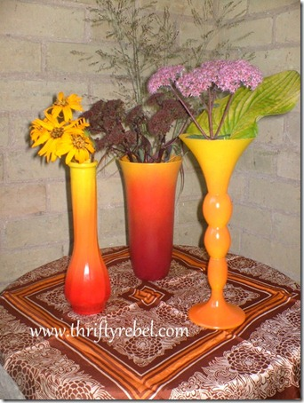 Fall Painted Ombre Vases