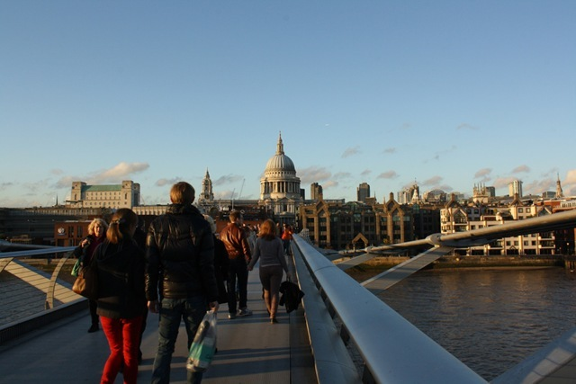 St Pauls Cathedral from Millennium Bridge