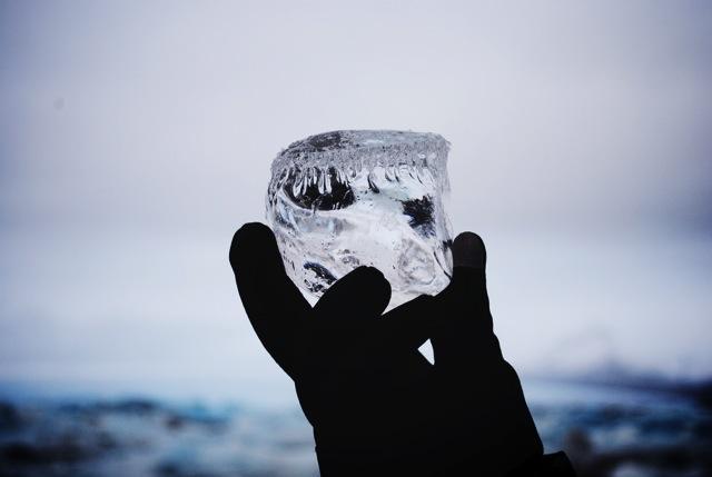 jokulsarlon ice cube