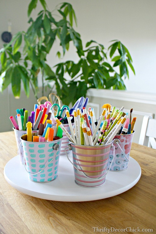 dollar pails craft caddy