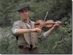 Gus Pike playing the fiddle from Road to Avonlea