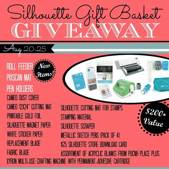 Silhouette Gift Basket Giveaway prize pack basket with date