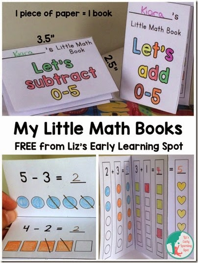 Subtraction Book for Kids - Kids will love learning with their very own printable math book for preschool and kindergarten