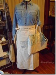 Market tote and apron