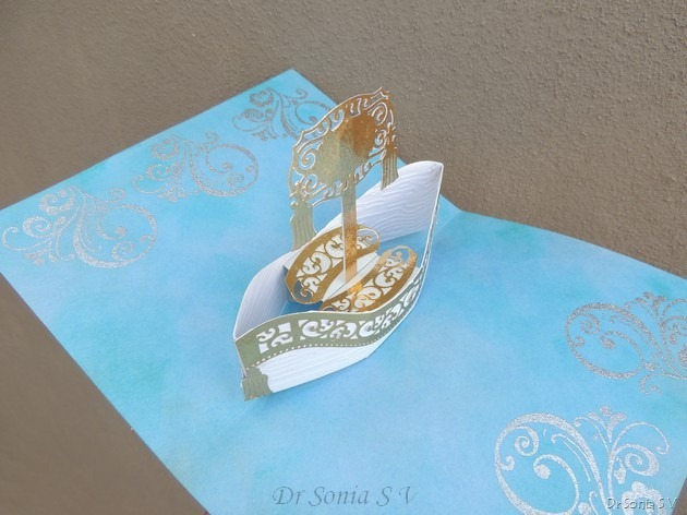 Boat Pop Up Card 2