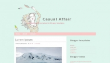 Casual affair blogger template 225x128