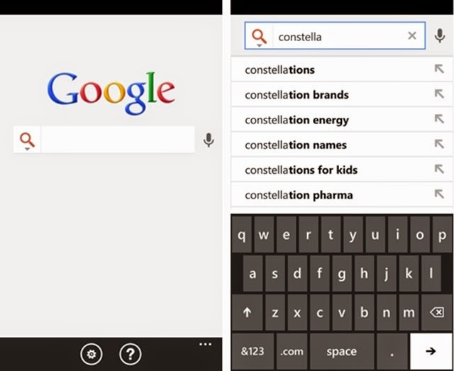 Google para Windows Phone