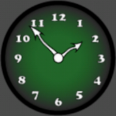 Analog Clock Green
