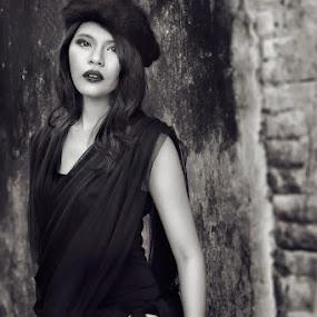 Mercy by Benaya Agung - People Fashion ( potrait, fashion, model, sexy, gothic, metal, dark, people, women, black )