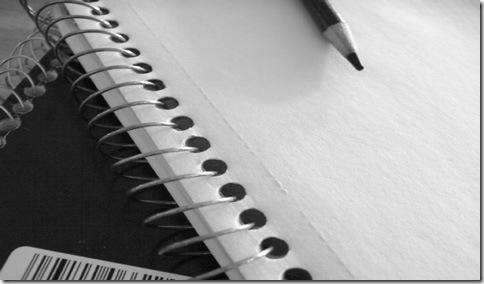 Crear una fuente, primer paso: coger lápiz y papel y dibujar las letras
