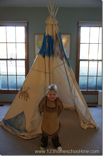 we painted our teepee