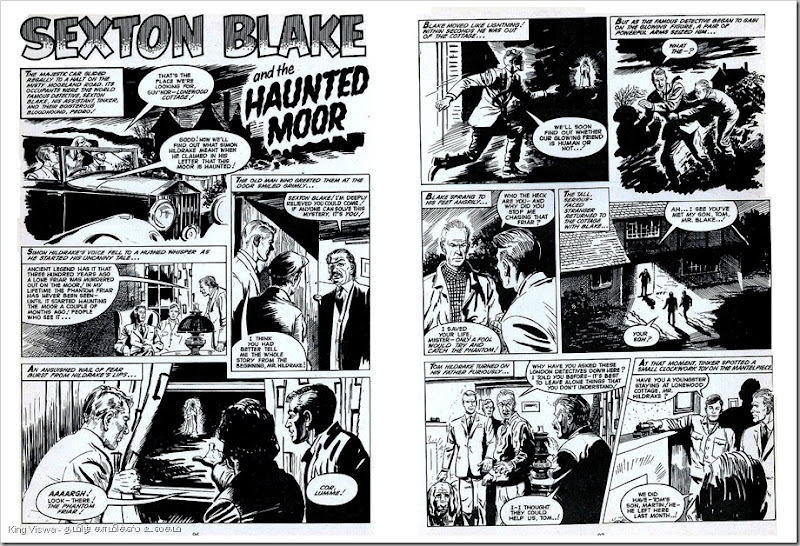 1969 Valiant Annual Page No 96 Sexton Blake Story Haunted Moore  Story By Angus Allan Art By Eric Dadswell