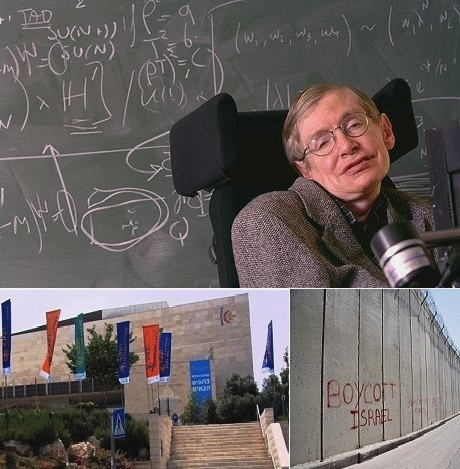 Stephen Hawking supports BDS boycott and withfraws from Jerusalem conference