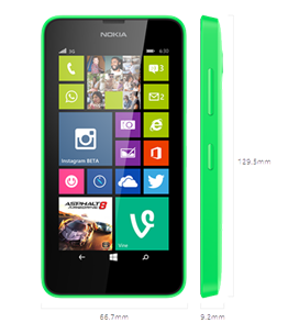 nokia lumia 630 design