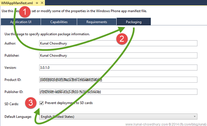 How to prevent deployment of Windows Phone 8.x apps to SD cards? (www.kunal-chowdhury.com)