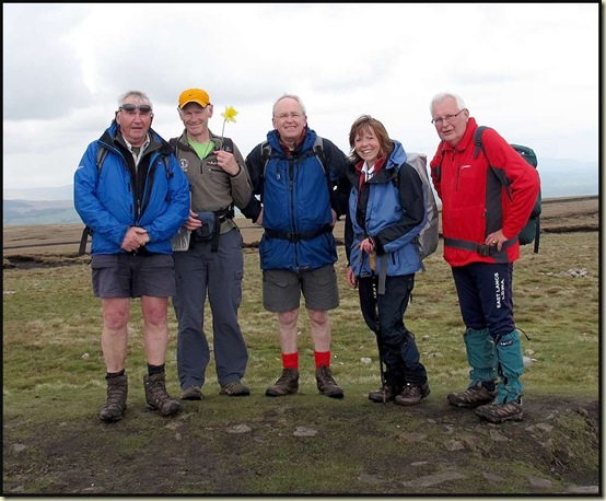 On the summit of Pendle Hill, 557 metres