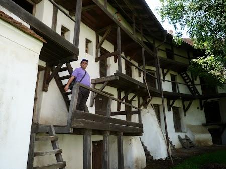 Fortificatii sasesti in Transilvania: locuinte Prejmer