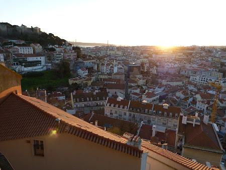 Apus de soare in Lisabona