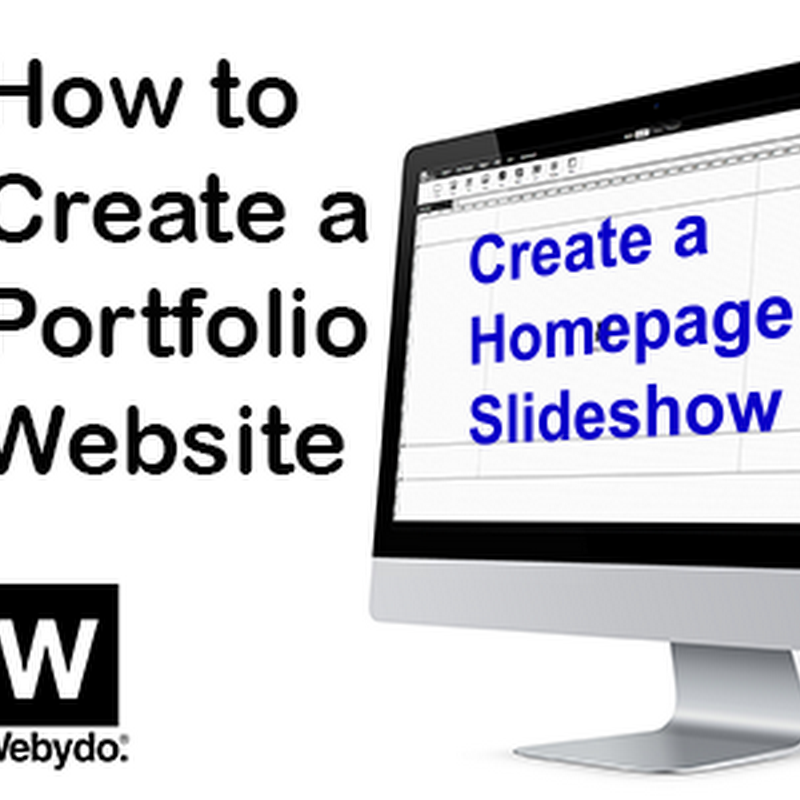 Portfolio Website Series – How to Create a Slideshow on your Homepage
