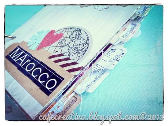 cafe creativo - Anna Drai - big shot sizzix - mini album - travel journal 1