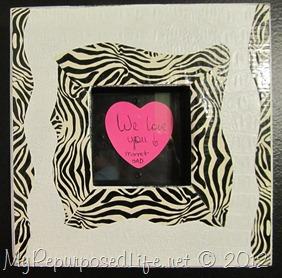 DIY Zebra Print Frame
